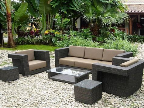 resin wicker patio furniture rattan carpet at house with