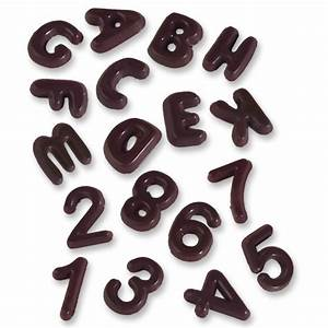 the guenthart shop letters a z and numbers 0 9 dark With dark chocolate letters