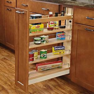 Rev a shelf wood pull out organizers with soft close for Kitchen cabinet organizers