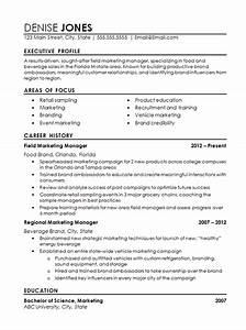 Cv And Cover Letter Samples Regional Marketing Resume Example Field Marketing Food