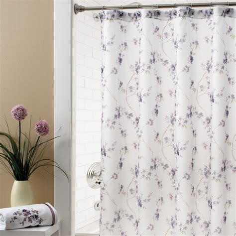 Target Sheer Window Curtains by White Fabric Curtain With Purple Blossom On Stainless