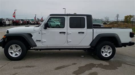 jeep gladiator sport max tow package  bright white walk  review  youtube