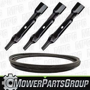 Deck Belt And Blade Kit Fits 48 U0026quot  John Deere D140 La130
