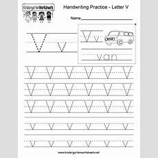 Letter V Writing Practice Worksheet  Free Kindergarten English Worksheet For Kids