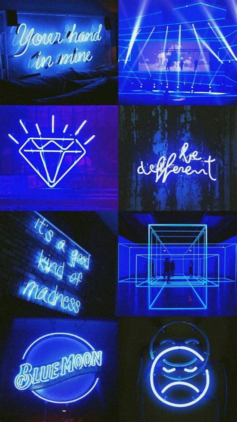 aesthetic neon blue wallpapers
