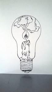 Affiche Illustration Noir Et Blanc Ampoule  U0026quot Tenir Une