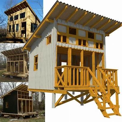 Cabin Plans Elevated Tiny Floor Frame Cottage