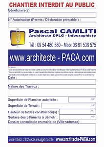 Panneau De Permis De Construire : justifier l 39 affichage du permis de construire sur le terrain ~ Dailycaller-alerts.com Idées de Décoration