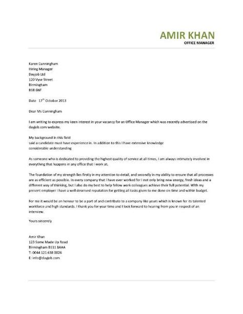 sample cover letter  medical office administrator