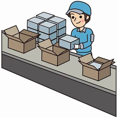 Packing Clipart Assembly Line Clip Workers Ammodytes