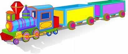 Train Clipart Cartoon Trains Bunte Spielzeugeisenbahn Toy
