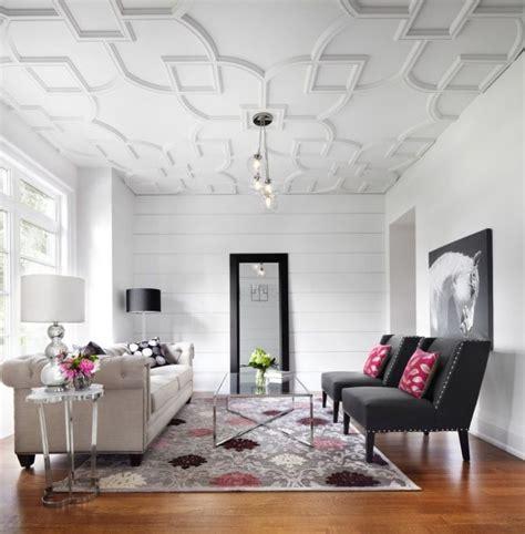 tenture plafond chambre rénover et décorer avec des faux plafonds habitatpresto