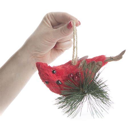 sisal cardinal ornament christmas ornaments christmas