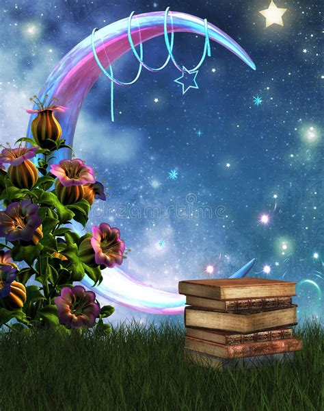 Giardino E Libri Di Fantasia Illustrazione Di Stock