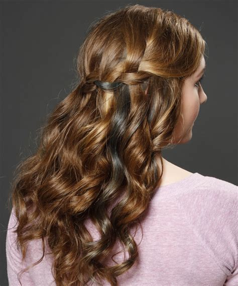 style hair half up curly formal half up hairstyle medium 8932
