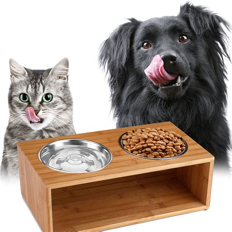ce compass elevated raised dog  cat pet feeder bowls
