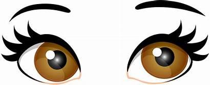 Eyes Brown Clip Clipart Female Eye Transparent