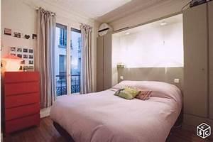 Dressing Autour Du Lit : meuble pont autour du lit chambre adulte immo ~ Premium-room.com Idées de Décoration