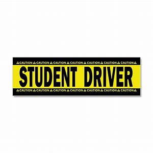 student driver caution car magnet 10 x 3 by polganidesign With kitchen colors with white cabinets with student driver sticker