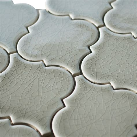 dove gray porcelain arabesque mosaic tile mediterranean