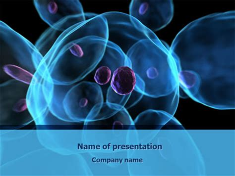 cancer cell cover template stem cells powerpoint template backgrounds 08249