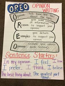 Oreo Writing Anchor Chart