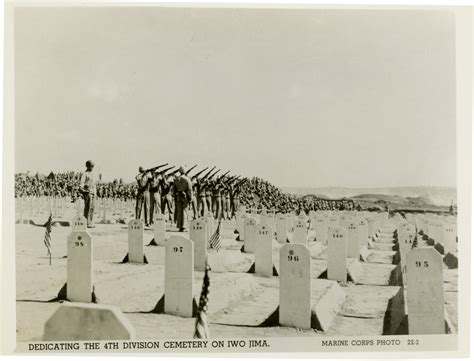 Dedication Of The 4th Marine Division Cemetery On Iwo Jima
