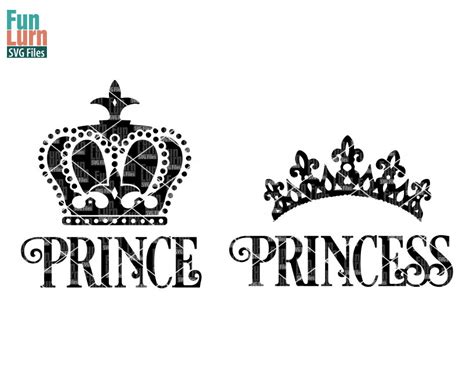 personalized sale prince princess crown svg funlurn svg