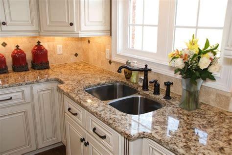 Bone White Cabinets, Granite, Bronze Cabinet Handles
