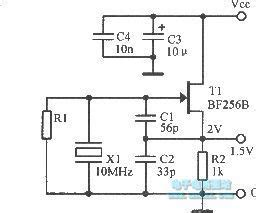 Low Noise Fet Crystal Oscillator Circuit
