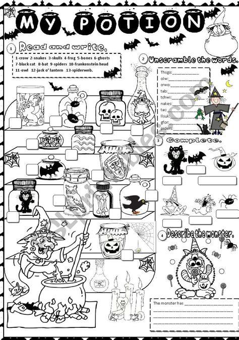 halloween esl worksheet  angelamoreyra