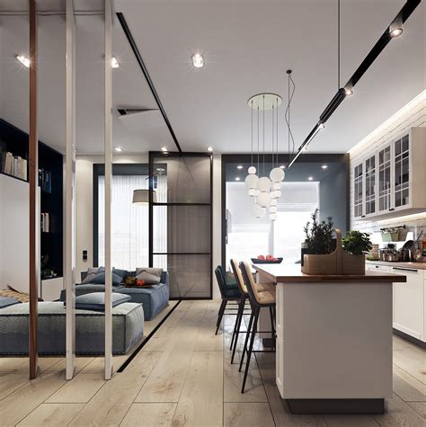 Beautiful Contemporary Feminine Apartment by Beautiful Studio Apartment Designs Combined With Modern