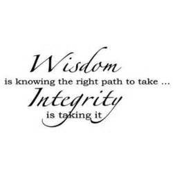 Integrity Wisdom Is Knowing the Right Path to Take