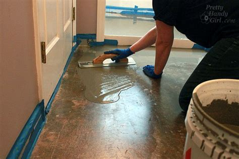 Liquid Floor Leveler Wood Subfloor by How To Patch And Level A Concrete Subfloor Pretty Handy