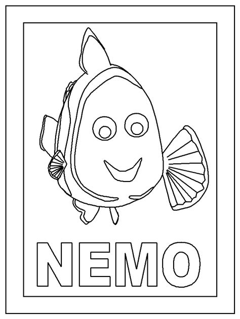 finding nemo color pages coloring home