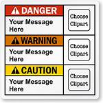 Ansi Warning Label Caution Labels Clip Template