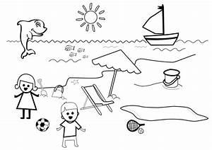 Comment Dessiner La Mer : 56 dibujos de playas para colorear oh kids page 1 ~ Dallasstarsshop.com Idées de Décoration