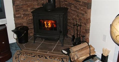 wood burning corner fireplaces a corner wood burning stove accented with faux stacked