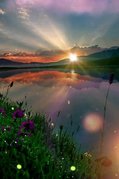 Nature Morning Scenery Anime Countryside