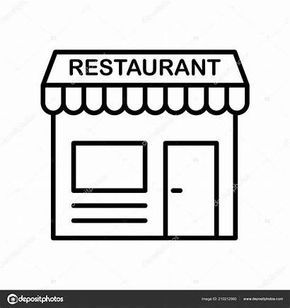 Restaurant Icon Isolated Transparent Outline Line Thin