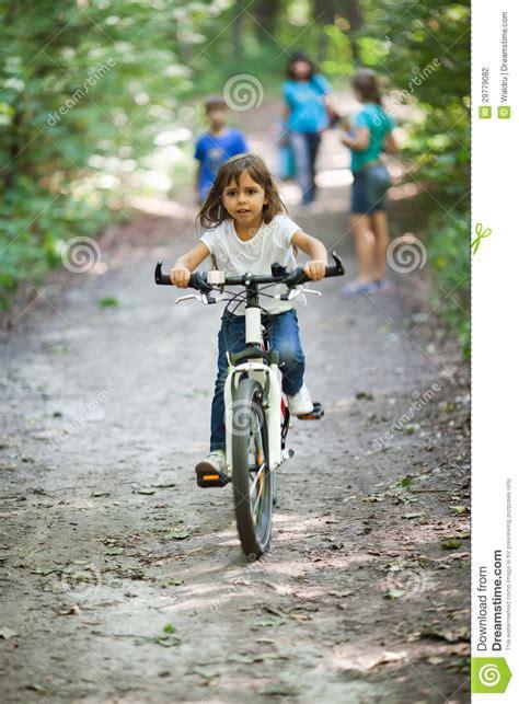 girl   bicycle stock photography image