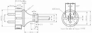 German Cee 7  17 Schuko Ip44 Straight Plug Power Supply Cord