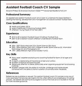 head football coach resume With football cv templates free