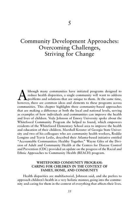 community development approaches overcoming challenges
