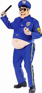 Adult Fat Police Pig Costume Funny Cop Costumes