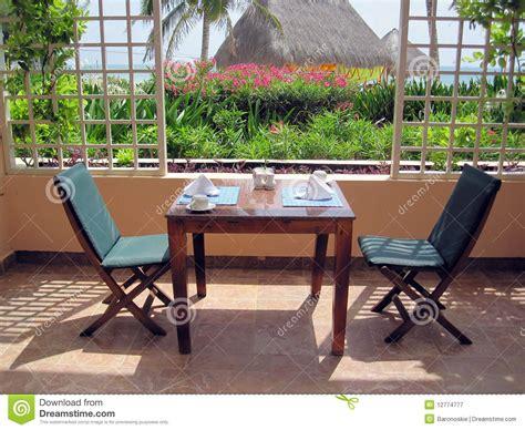 table el patio restaurant patio dining table stock image image 12774777