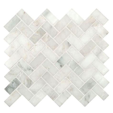 herringbone backsplash tile home depot ms international arabescato carrara herringbone pattern 12