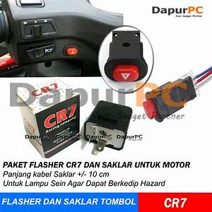 Paket Termurah Flasher Cr7   Saklar Tombol On Off Lampu Hazard Motor
