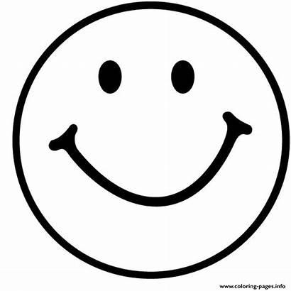 Coloring Emoji Smile Pages Emoticon Printable Happy