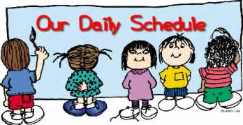 Image result for daily schedule clip art